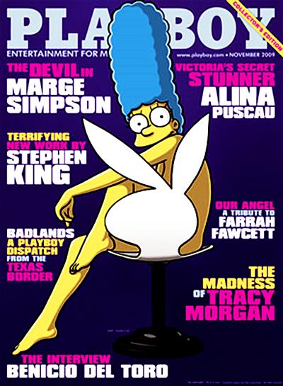 Marge Simpson для Playboy.