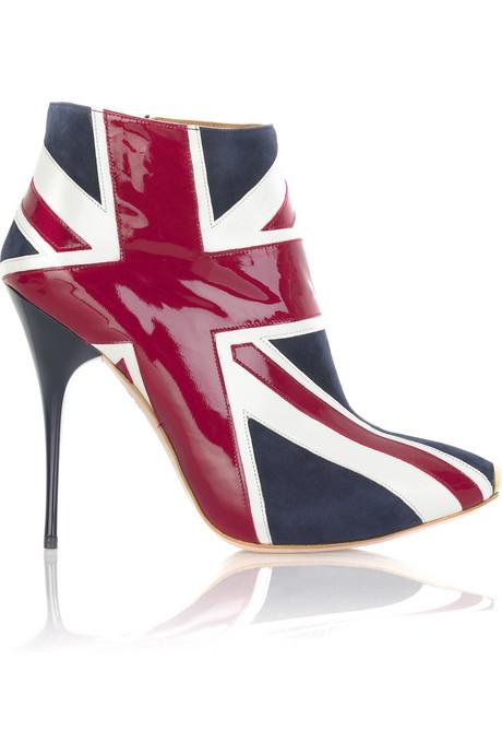Туфли на британский флаг.