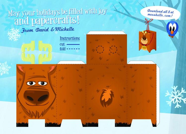 Дизайнерские ёлочные игрушки от Michelle Runowski.