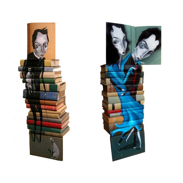 Mike Stilkey: скульптуры из книг.