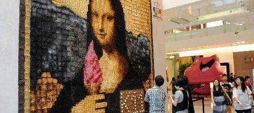 Мона Лиза из тостов на Food Art Festival.