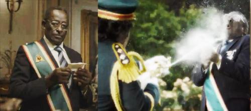Каддафи и Мугабе в рекламе Nando's: последние диктаторы.
