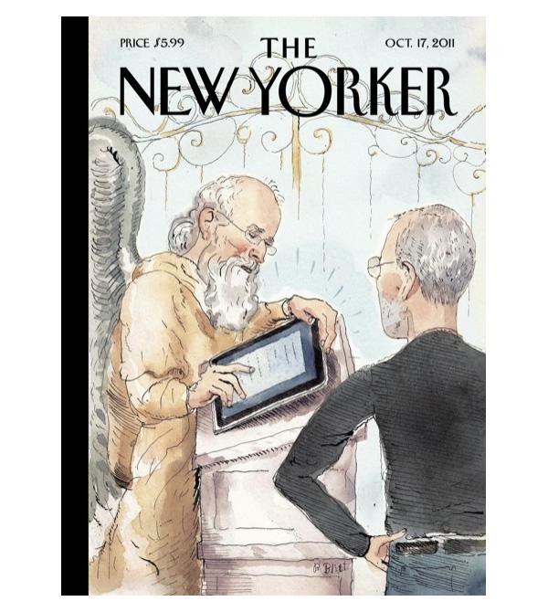 Стив Джобс и апостол Пётр у ворот рая.