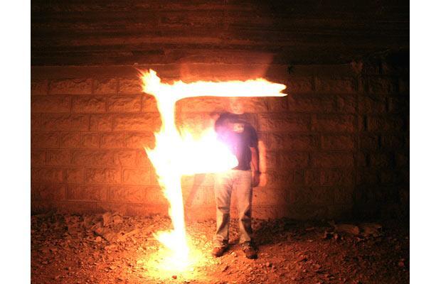 Огненная типографика от Nir Tober.