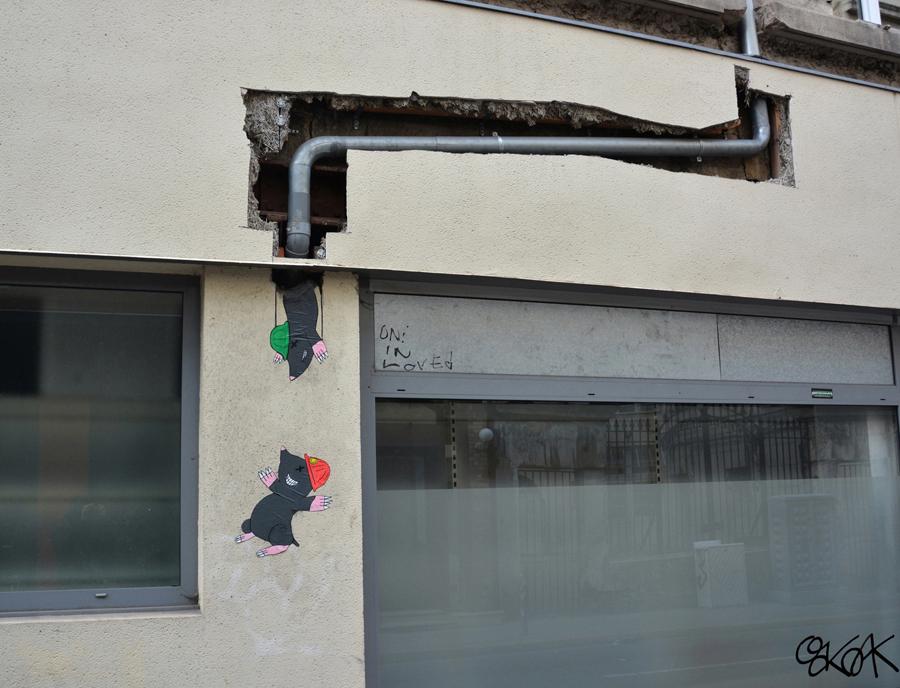 Французский стрит-арт от OakOak.