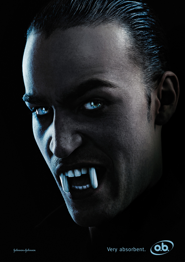 O.B.: вампиры в рекламе тампонов.