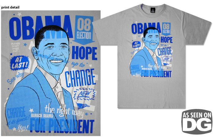 Футболки с изображением Барака Обамы.