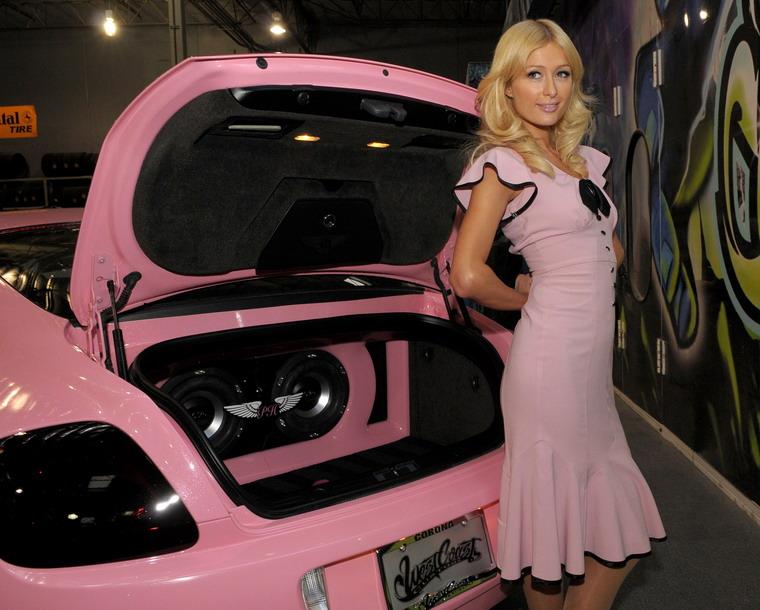 Розовый Bentley для Пэрис Хилтон (Paris Hilton).