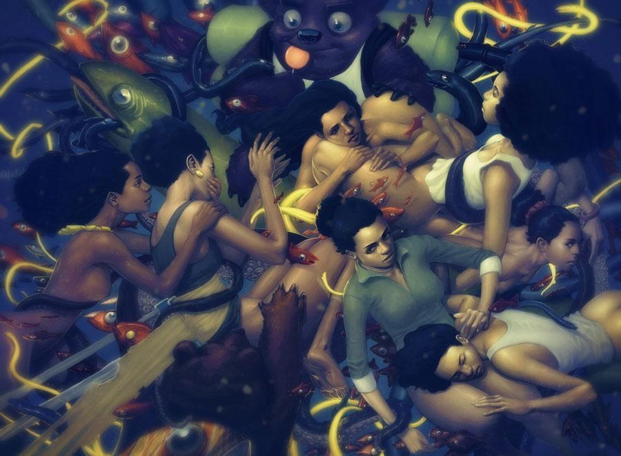 Paul Davey: цифровая живопись.