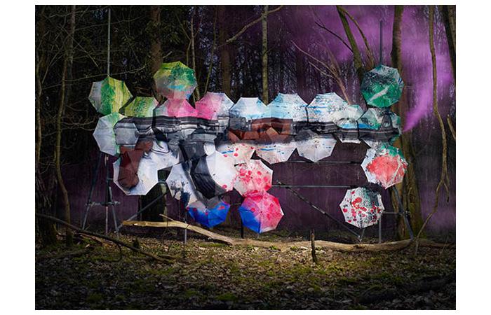 Pop Pop Bang Bang: картины на зонтах.
