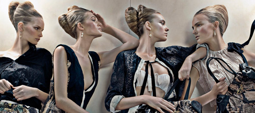 Prada: коллекция весна/лето 2009. Фотографии Steven Meisel.