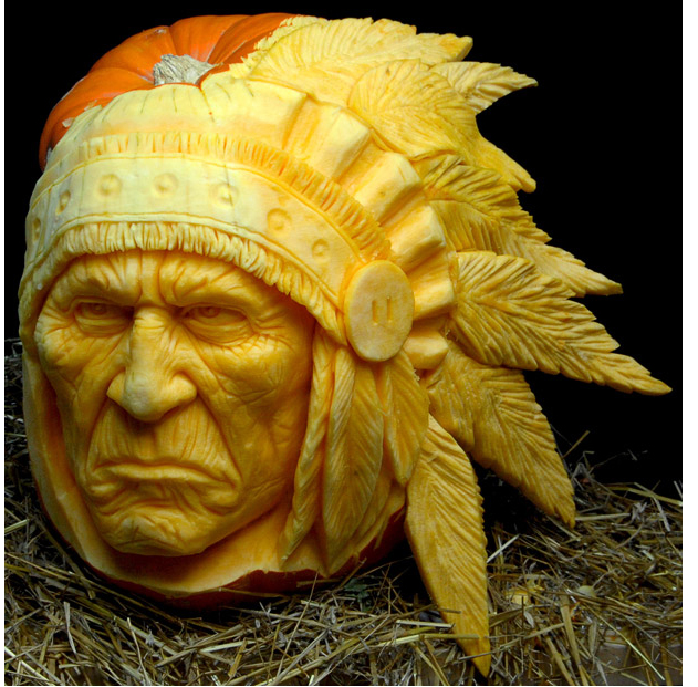 Ray Villafane: Halloween Pumpkin art.