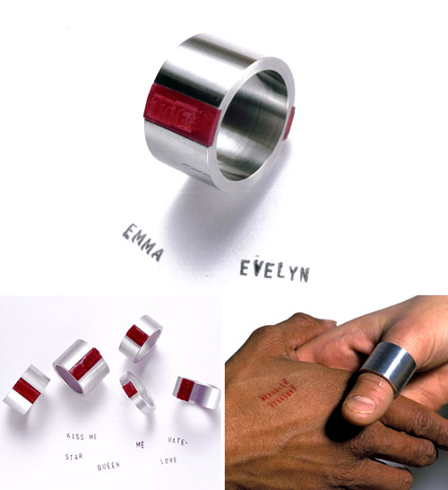 Оставь свой след: кольцо со штампом.