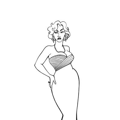 Samantha Zaza: злые женщины в вечерних платьях.