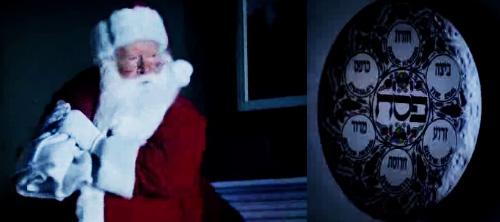 Санта и еврейский мальчик.