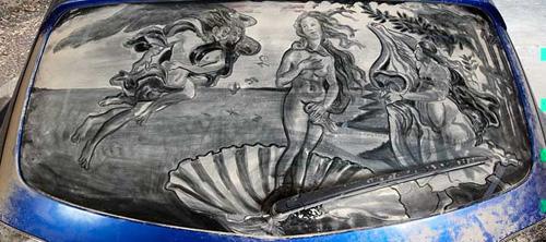 Scott Wade: картины на грязных автомобилях.