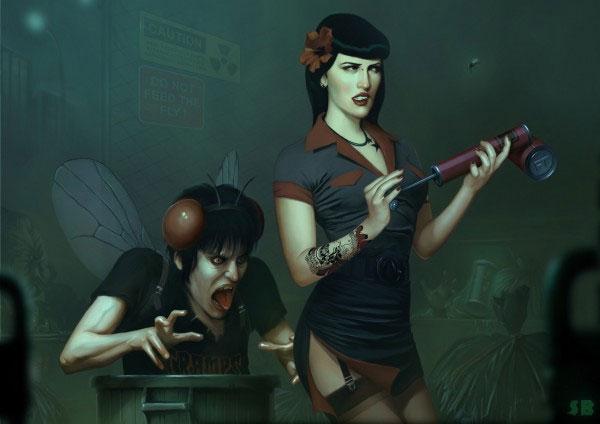 Иллюстрации Serge Birault.