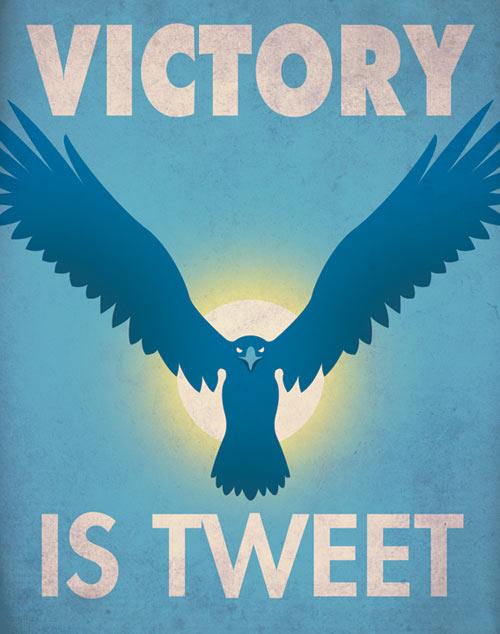 Пропагандистские постеры для социальных сетей.