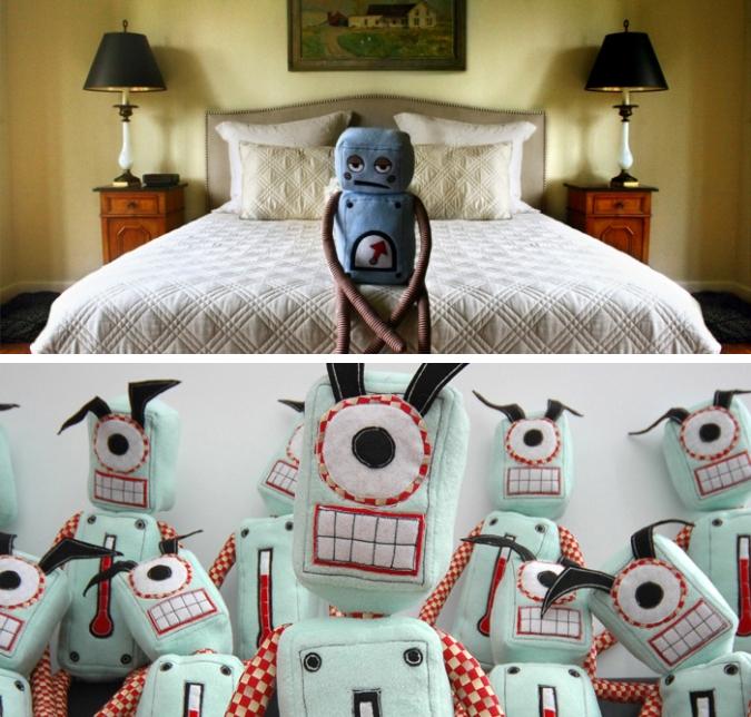 Плюшевые роботы от Stuffedrobot.
