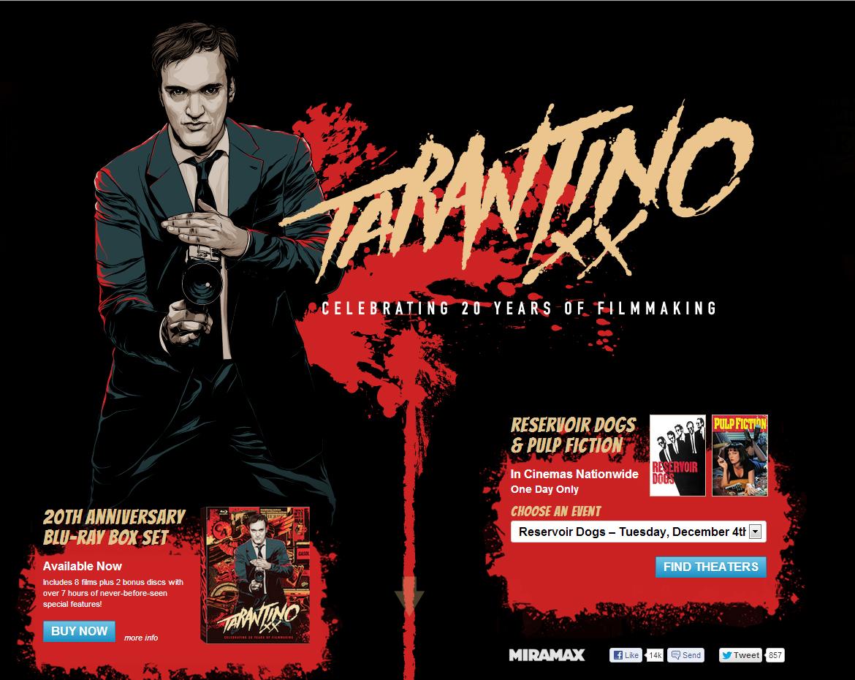 Квентин Тарантино — 20 лет режиссёрства.