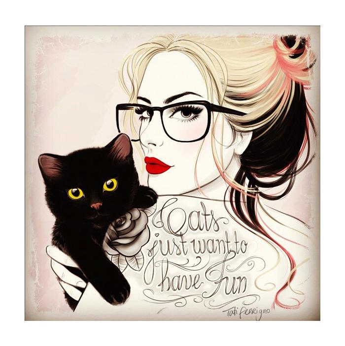 Иллюстрации Tati Ferrigno.