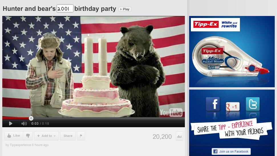 TIPP-EX: день рождения медведя.