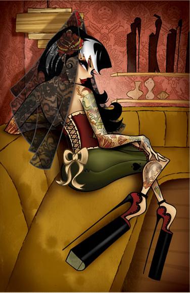 Tyson McAdoo: девушки, интерьеры и комиксы.