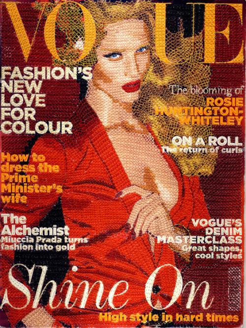 Вышивая Vogue крестиком.