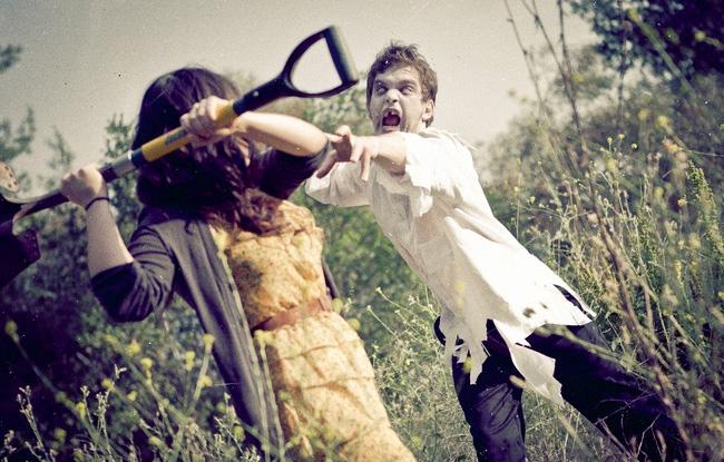 Свадебная фотосессия с зомби.